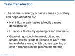 taste transduction