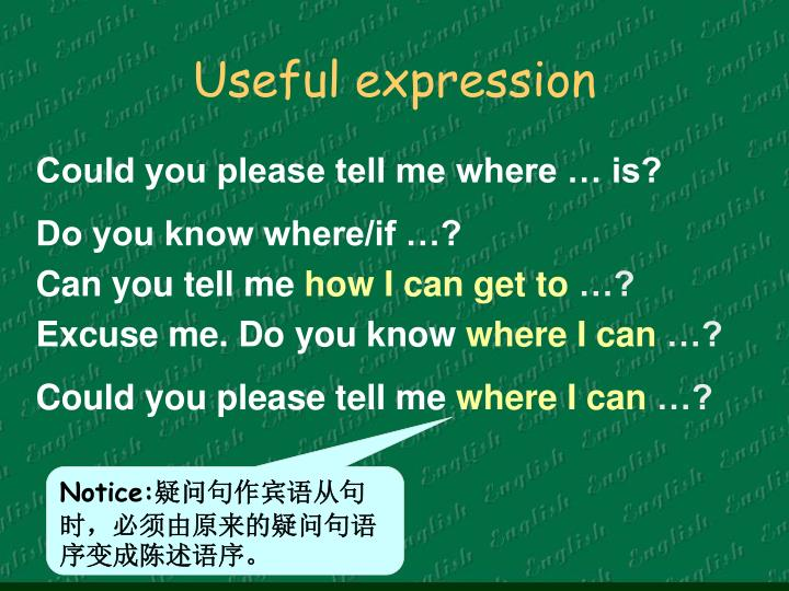 Useful expression