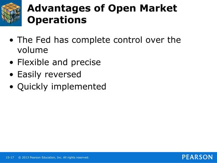 Advantages of Open Market Operations