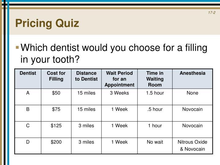 Pricing Quiz