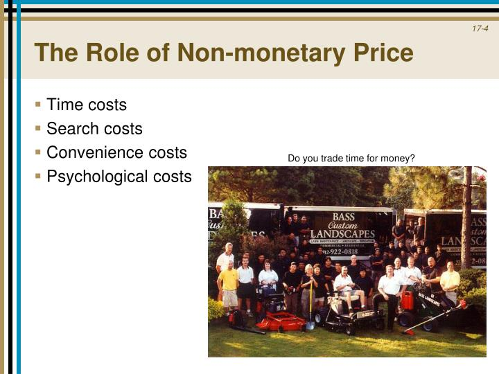 The Role of Non-monetary Price