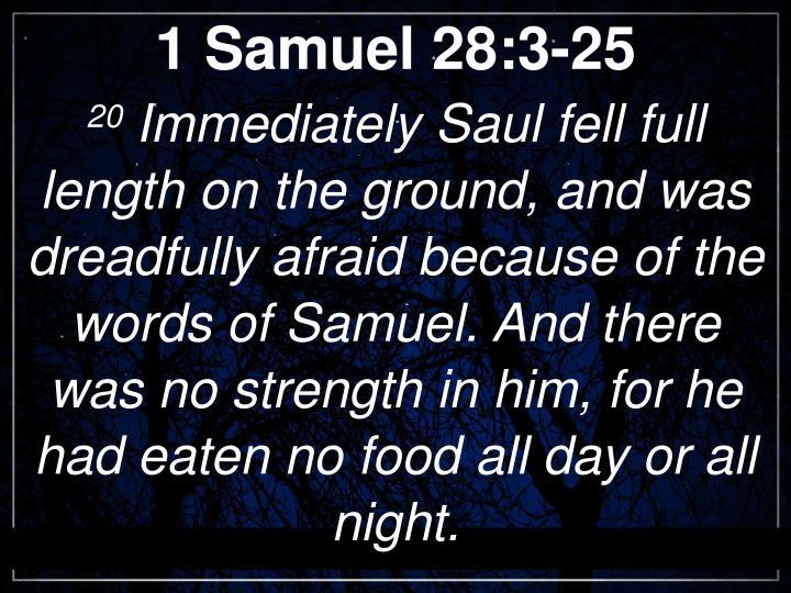 1 Samuel 28:3-25