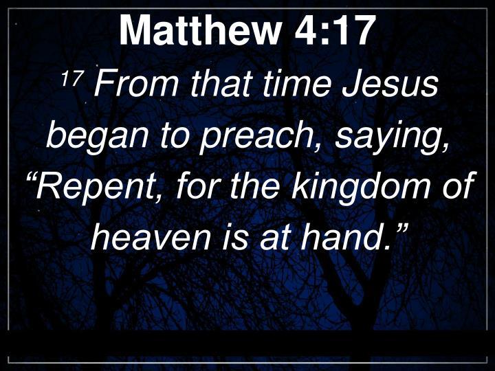 Matthew 4:17