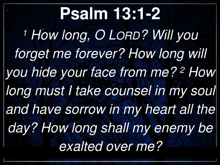 Psalm 13:1-2