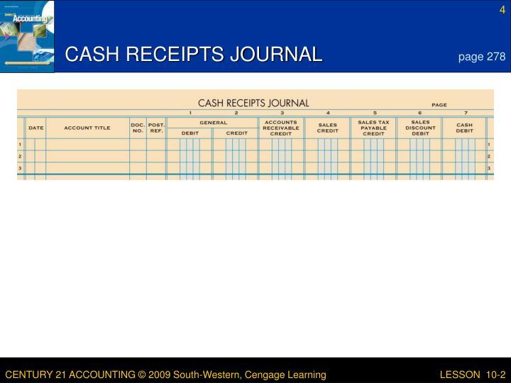 CASH RECEIPTS JOURNAL