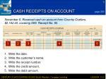 cash receipts on account