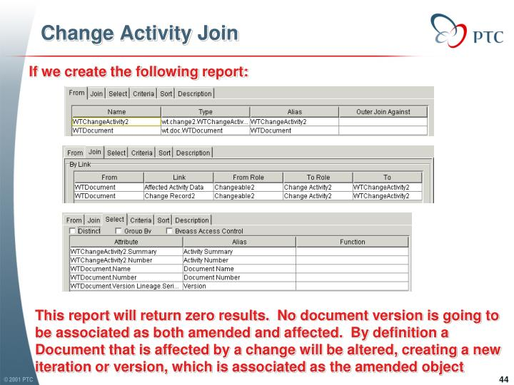 Change Activity Join