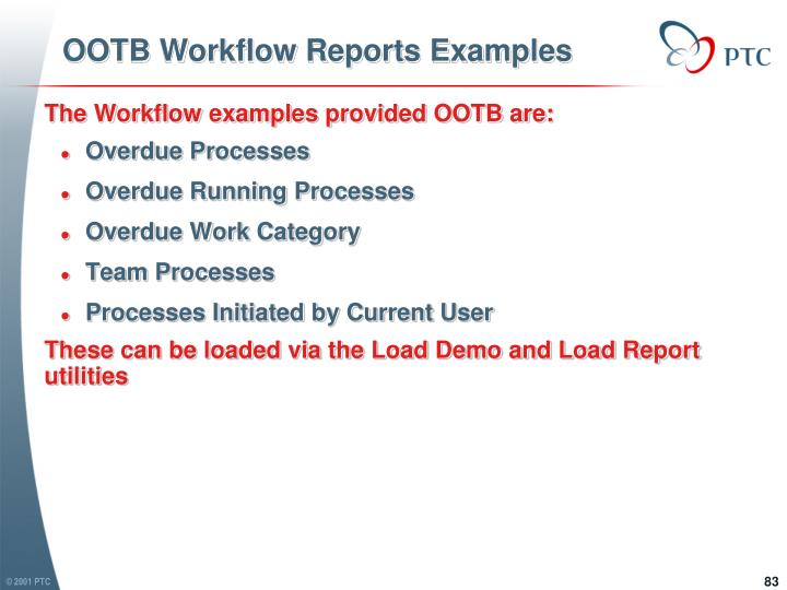 OOTB Workflow Reports Examples