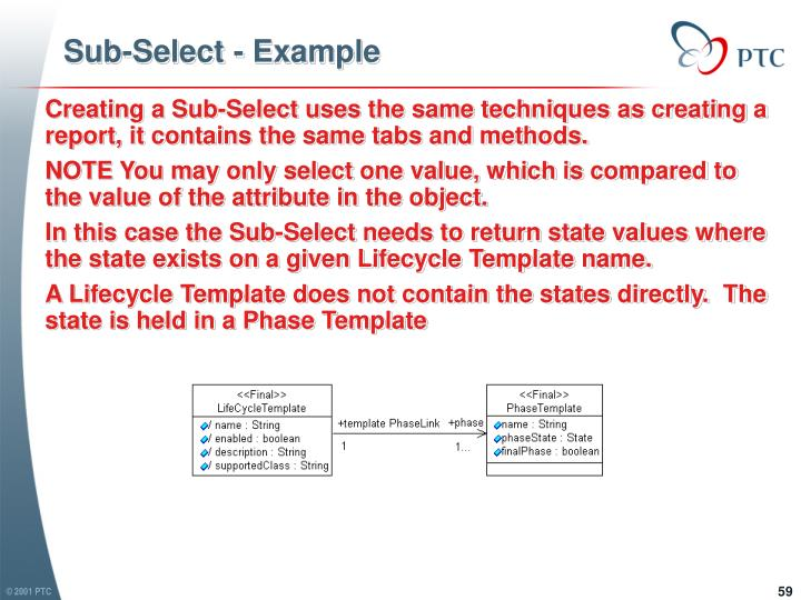 Sub-Select - Example