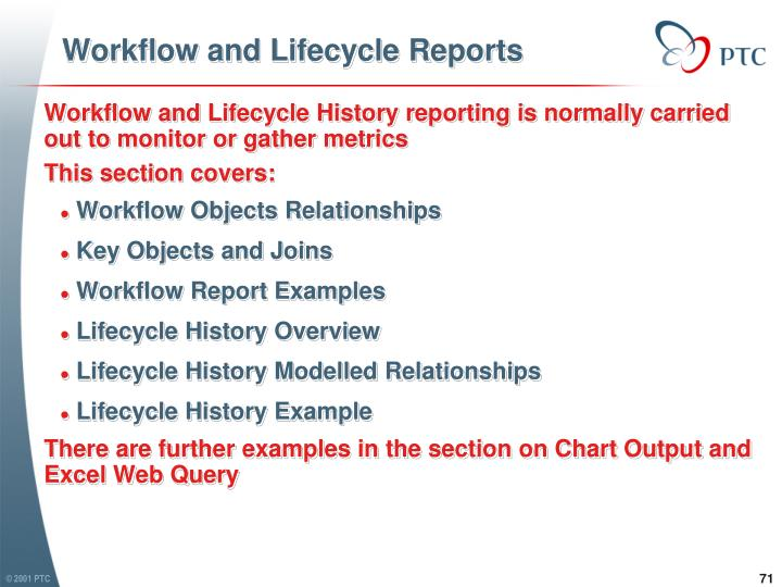 Workflow and Lifecycle Reports