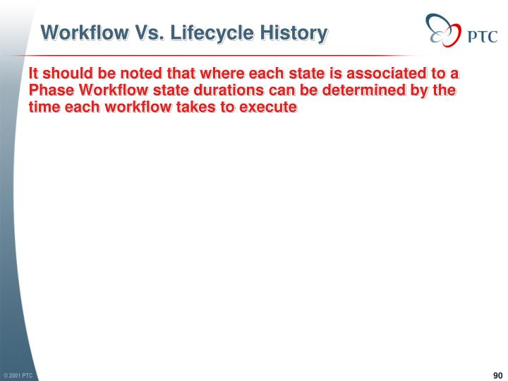 Workflow Vs. Lifecycle History