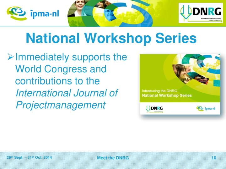 National Workshop Series