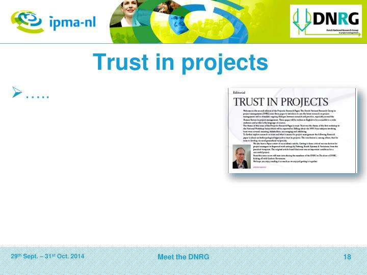 Trust in projects