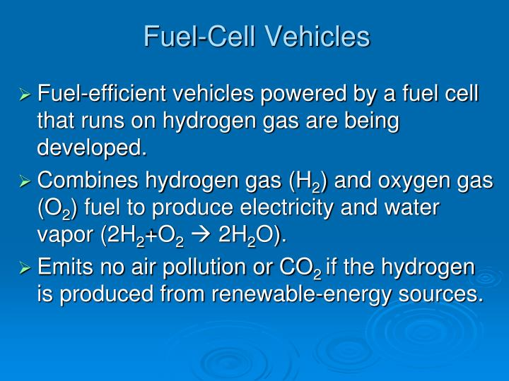 Fuel-Cell Vehicles