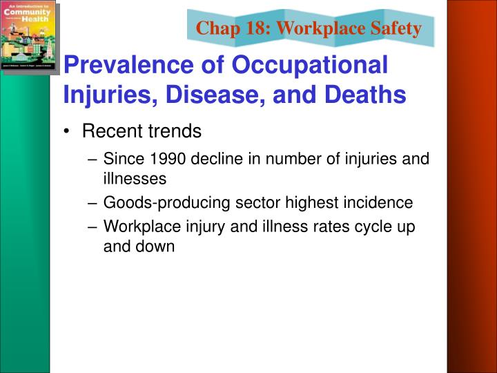 Prevalence of Occupational Injuries, Disease, and Deaths