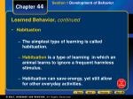 learned behavior continued