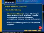 learned behavior continued2