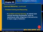 learned behavior continued3