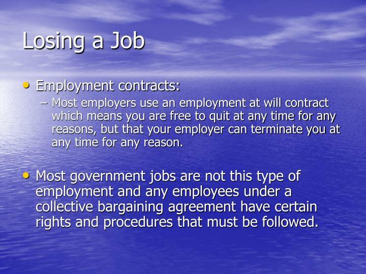 Losing a Job