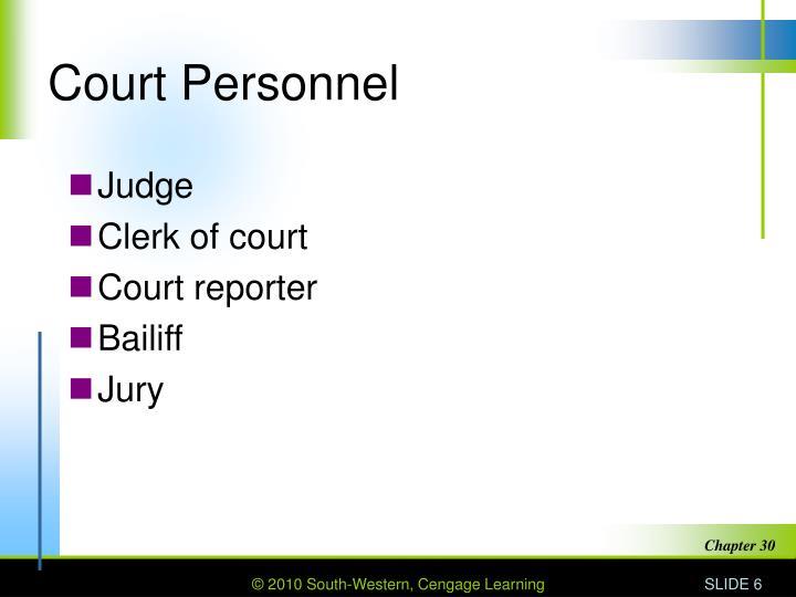 Court Personnel