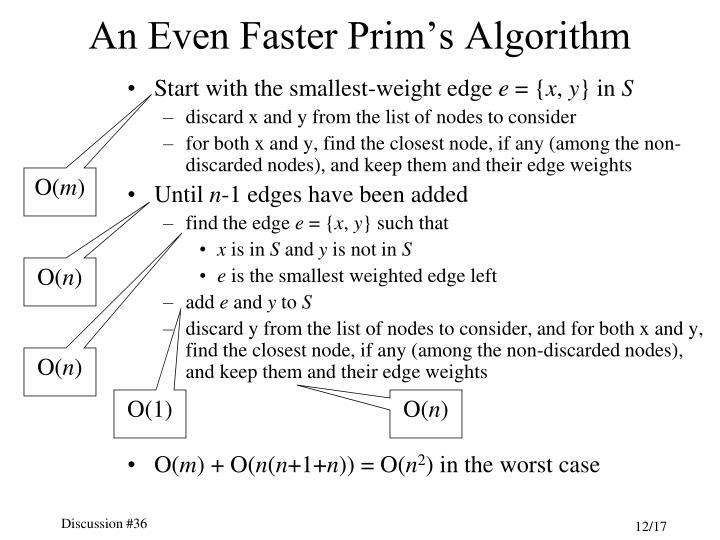 An Even Faster Prim's Algorithm