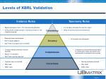 levels of xbrl validation