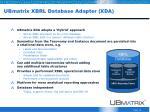 ubmatrix xbrl database adapter xda