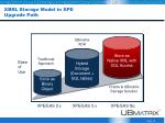 xbrl storage model in xpe upgrade path