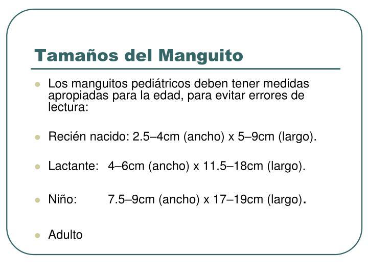 Tamaños del Manguito