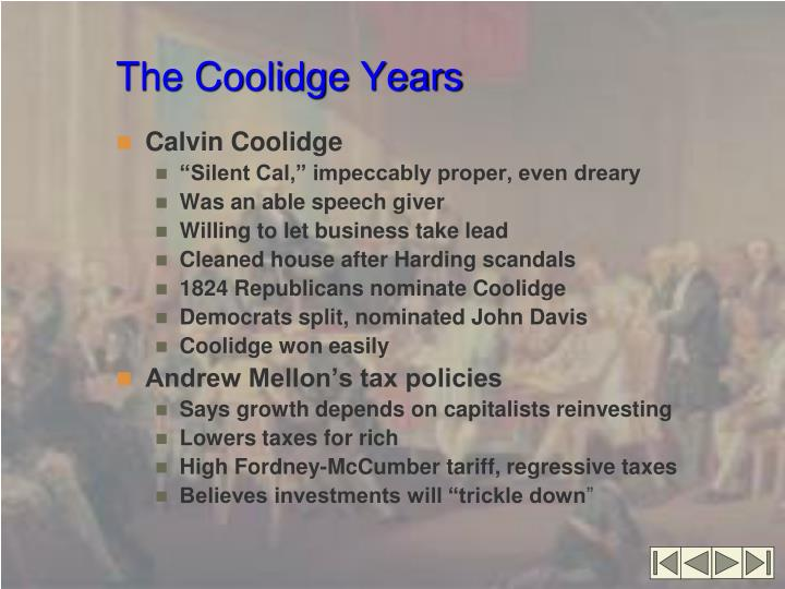 The coolidge years