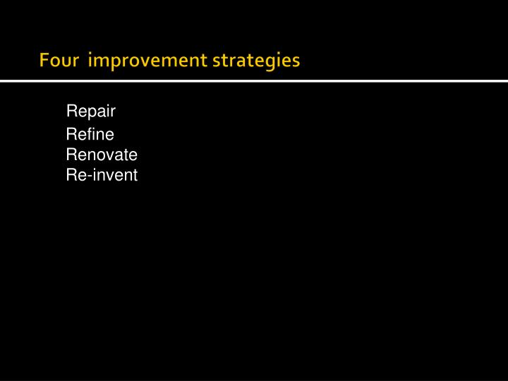 Four  improvement strategies