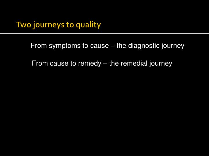 two journeys to quality
