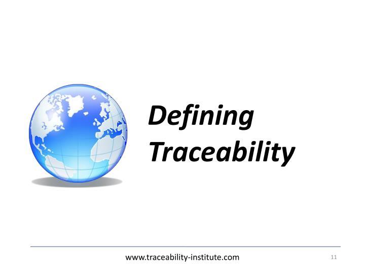 Defining Traceability