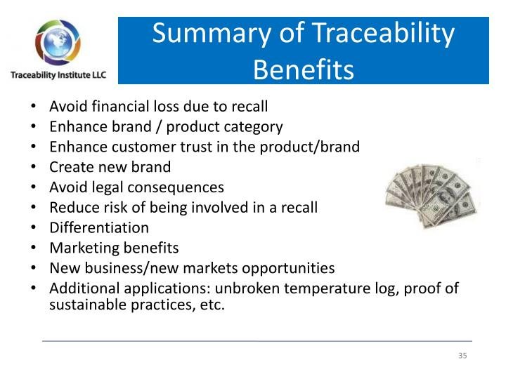 Summary of Traceability Benefits