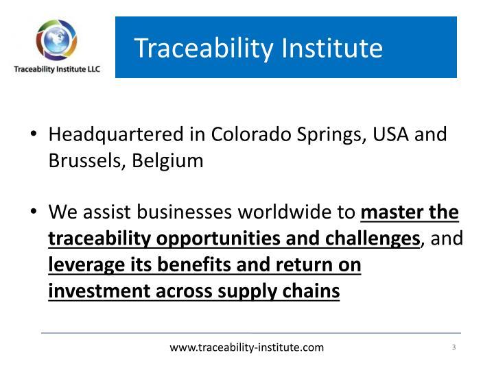 Traceability Institute