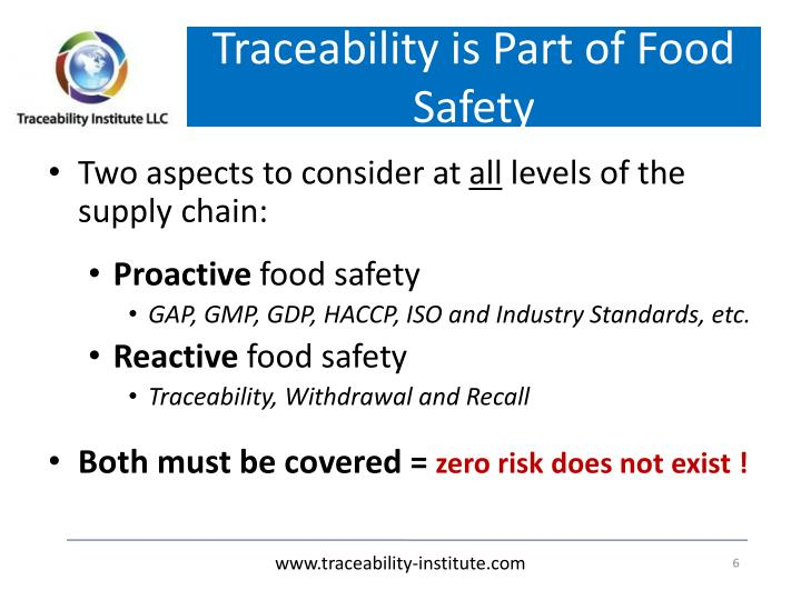 Traceability is Part of Food Safety