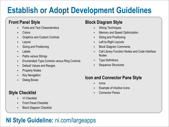 Establish or Adopt Development Guidelines