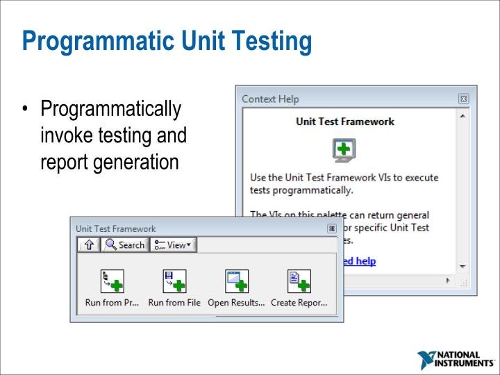 Programmatic Unit Testing