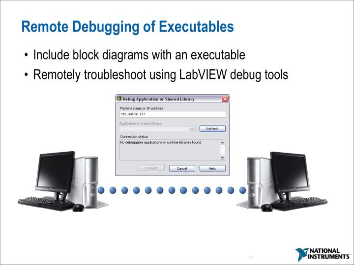 Remote Debugging of Executables