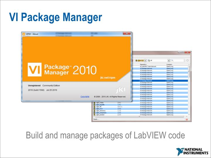 VI Package Manager