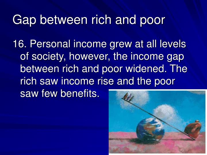 the gap between the rich and The rich keep getting richer in new jersey and the poor aren't keeping pace, new data shows income inequality in new jersey, or the gap between the rich and poor, now ranks 12th-highest in the.