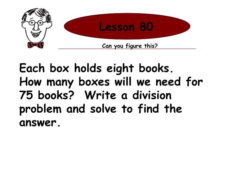 Lesson 80