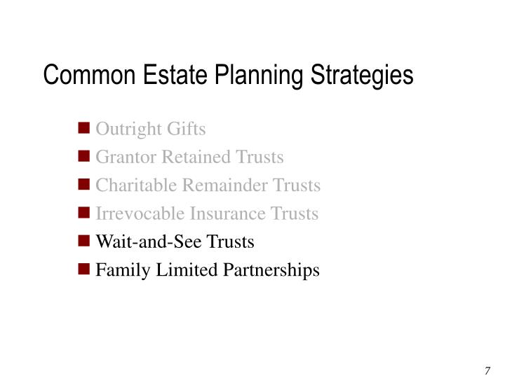 Common Estate Planning Strategies