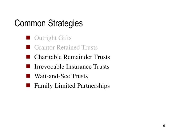 Common Strategies