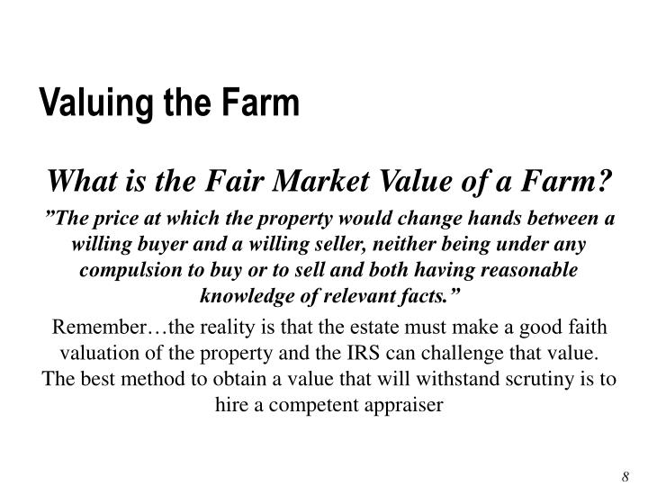 Valuing the Farm