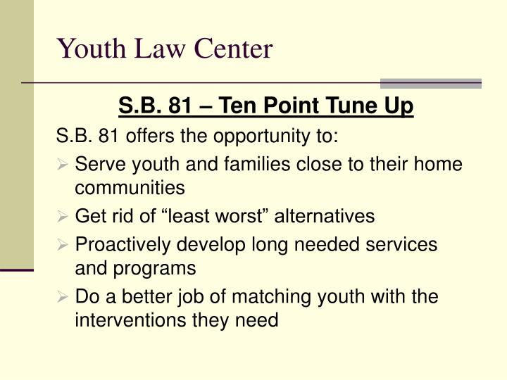 Youth law center1