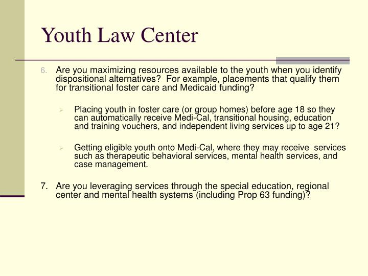 Youth Law Center