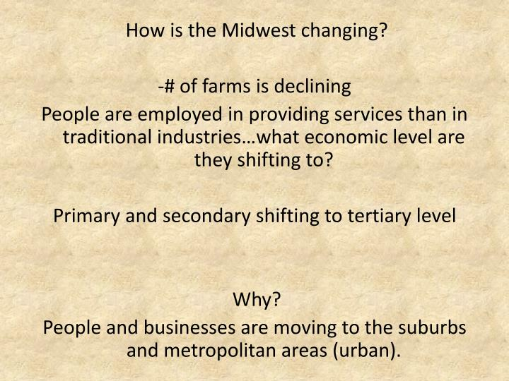 How is the Midwest changing?