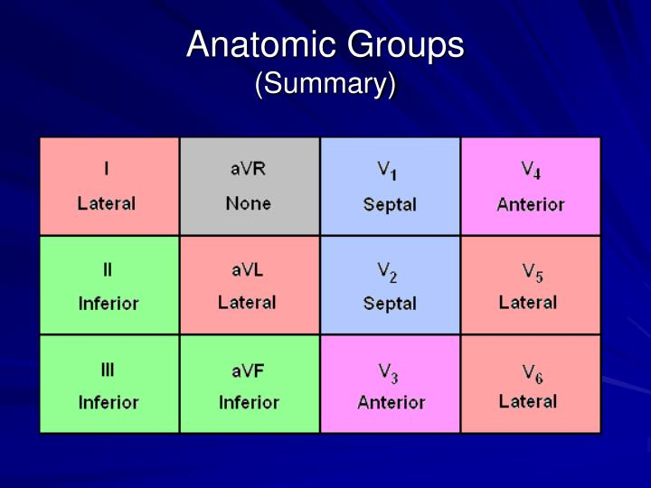 Anatomic Groups