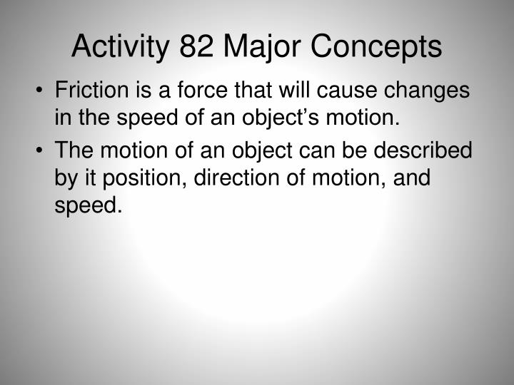 Activity 82 major concepts
